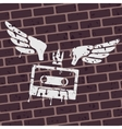 Symbol Graffiti cassette vector image