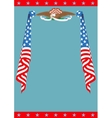 US Flag and Eagle patriotic border template vector image