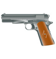 vintage personal pistol of WW2 times vector image