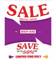 Sale Banner and Best Offer design vector image