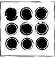 Black Grunge Icon Set vector image
