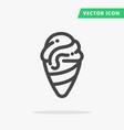 Ice-cream line icon vector image