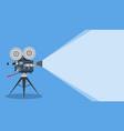 retro cinema video camera vector image