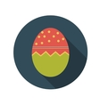 Flat Design Concept of Easter Eggs With Long vector image