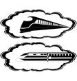 Modern locomotives vector image vector image