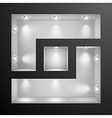 3d empty shelf for exhibit in the wall vector image vector image
