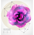 Abstract polygonal geometric vector