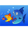 fish eat fish vector image