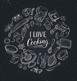 Cooking poster vector image