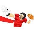 Football Player Quarterback Throwing Ball vector image