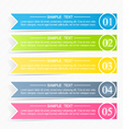 Modern infographics colorful design template vector image