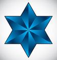 Six point star symbol vector image