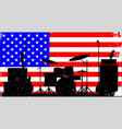 usa rock band vector image