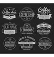 Vintage logo Coffee shop template Restaurant vector image