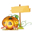 Pumpkin house vector image vector image