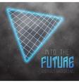 Neon Poster Template Retro Disco 80s Background vector image