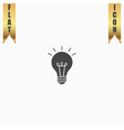 Lamp flat icon vector image