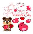 valentine s day teddy bear vector image
