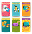 comic posters with household appliances vector image vector image