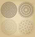 monochromatic ethnic round textures vector image