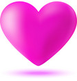 Pink 3d valentine heart vector image