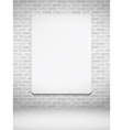 Vertical Poster on Brick Wall vector image vector image
