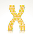 The letter X of the alphabet made of Ximenia vector image