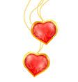 ruby hearts vector image vector image