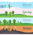 season icon set of nature tree background vector image