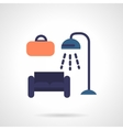 Furniture store flat color icon vector image