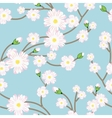 Seamless pattern with tree blossoming brunch Vector Image