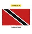 scratched flag of Trinidad and Tobago vector image