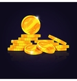 Gold coins stack vector image
