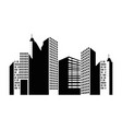 buildings cityscape isolated icon vector image