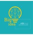Bulb light idea vector image