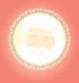 Christmas red background with Father Christmas vector image