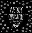 Christmas vintage chalk text label on a blackboard vector image