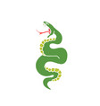 doodle icon snake traditional tattoo flash vector image