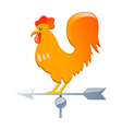 icon rooster weathercock vector image