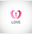 love valentine logo vector image