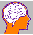 Man profile with visible brain vector image