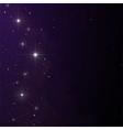 Stars and nebula vector image