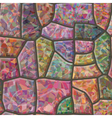 Stone mosaic seamless texture vector image