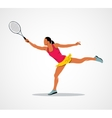 tennis racket athlete vector image