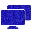 computers icon grunge watermark vector image