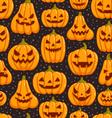 Pumpkins pattern vector image vector image