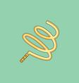 ribbon gymnastic gymnastics ribbon rhythmic vector image vector image