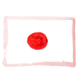 watercolor flag of Japan vector image vector image