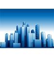 3d cityscape buildings background vector image