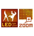 led panel vector image